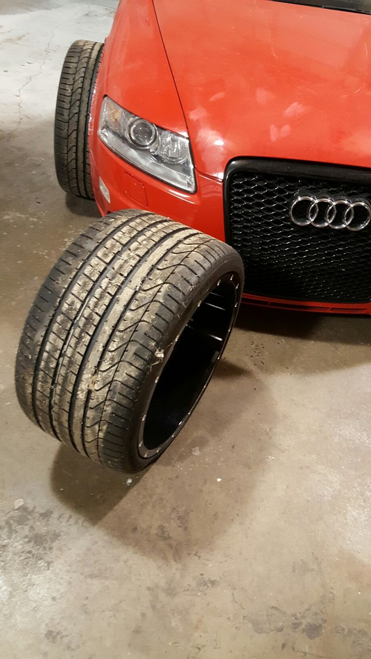 The 335-25-20 Pirelli P-Zero run flat tires we are putting on the wide body audi project car by Sam Kimmel at Kimmel Fabrication Studio LLC in Fort Wayne Indiana.