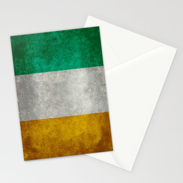 National flag of the Republic of Ireland - Vintage Version Stationery Cards by LonestarDesigns2020 - Flags Designs + | Society6