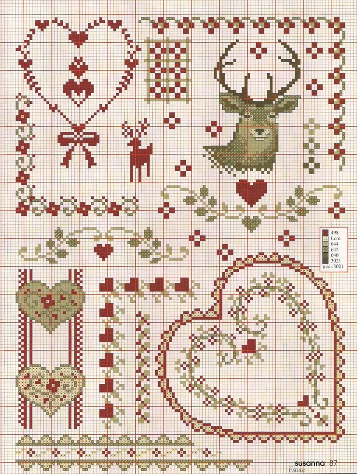 hearts and deer
