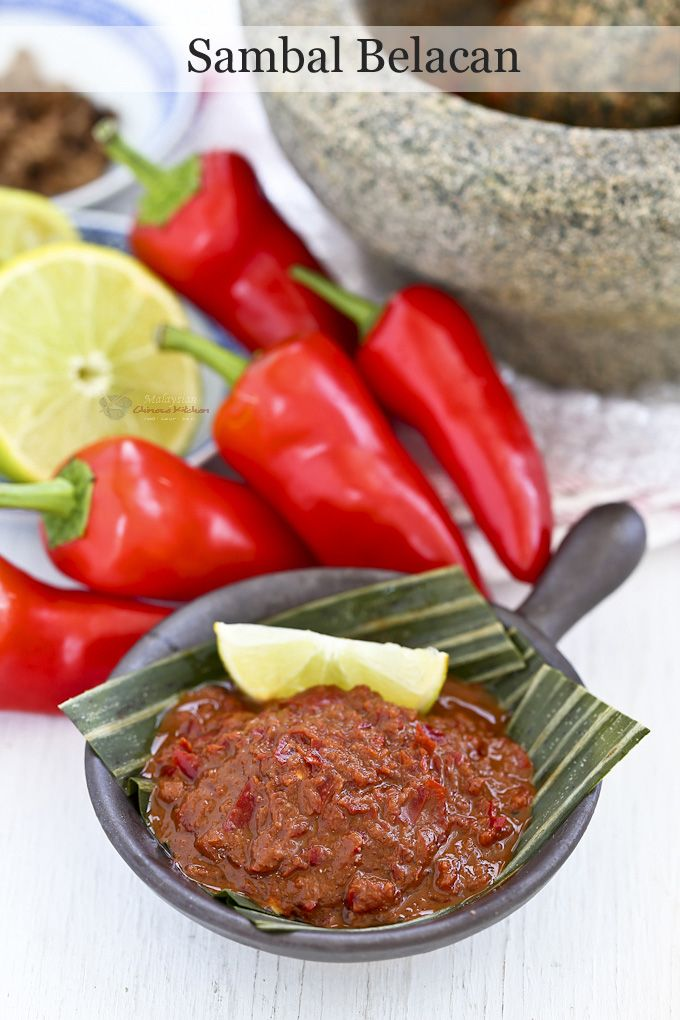 Sambal Belacan is a popular spicy Malaysian chili condiment consisting of chilies, belacan (shrimp paste), and lime juice. It adds zest to all your rice and noodle dishes. | Food • Culture • Stories at MalaysianChineseKitchen.com