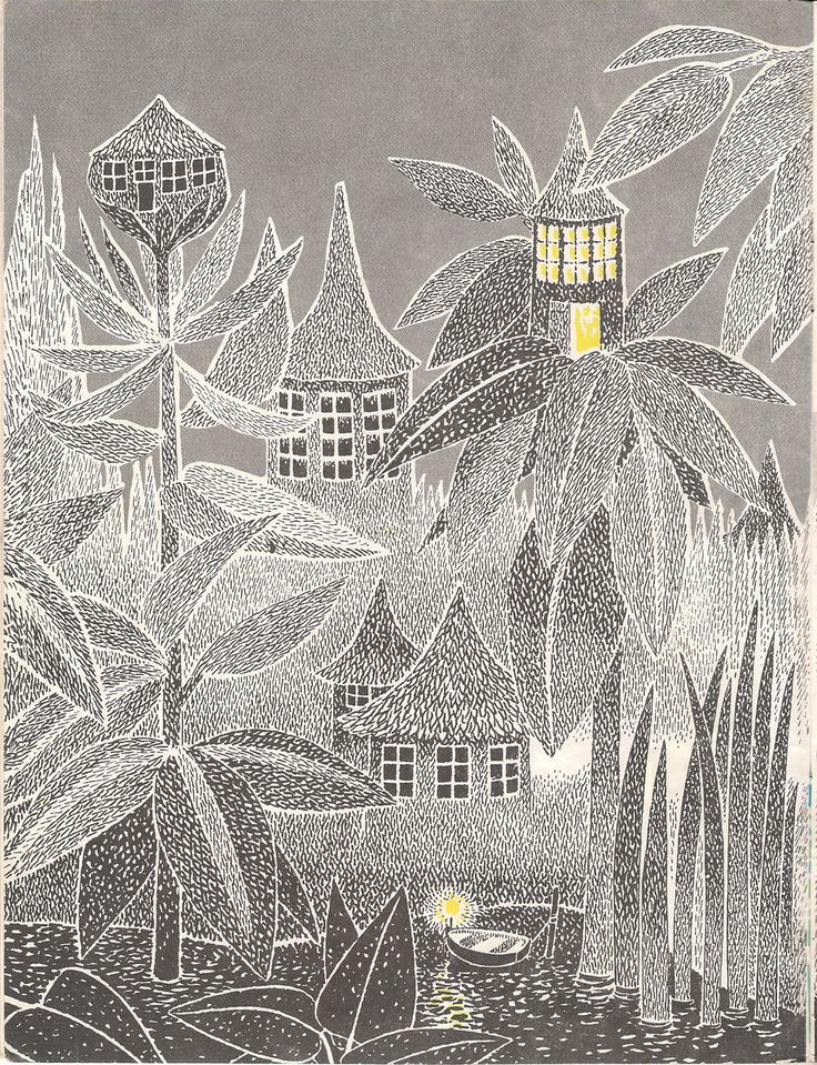 Tove Jansson's picture from her book who will comfort Toffle?