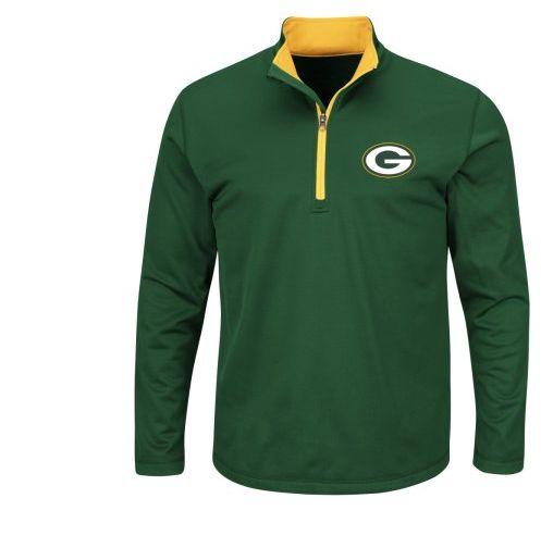 "Green Bay Packers Majestic NFL ""Scoreboard"" Men's 1/2 Zip Lightweight Sweatshirt"