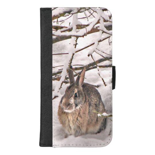 Brown Bunny Rabbit iPhone 8/7 Plus Wallet Case