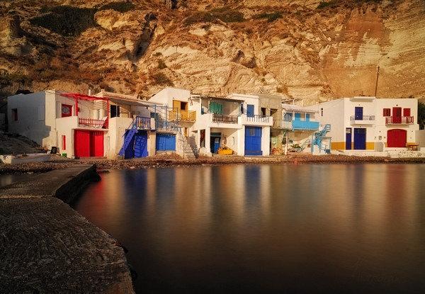 Milos island colorful doors