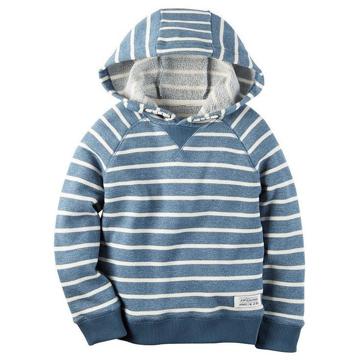 Baby Boy Carter's Striped French Terry Hoodie, Size: