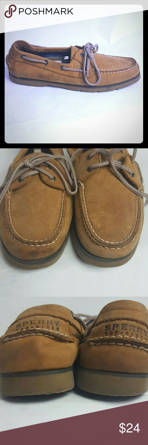 Sperry Top Sider Men size 8M Condition 8.5/10, they have some scuffs and stains from normal use, but still wearable, nothing too big and too noticeable, if you have any questions or you want to request more pictures, don't hesitate to ask me . Thanks for your time. Sperry Top-Sider Shoes Loafers & Slip-Ons