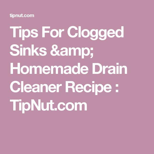 Diy Drain Cleaner Smell: Best 20+ Homemade Drain Cleaner Ideas On Pinterest
