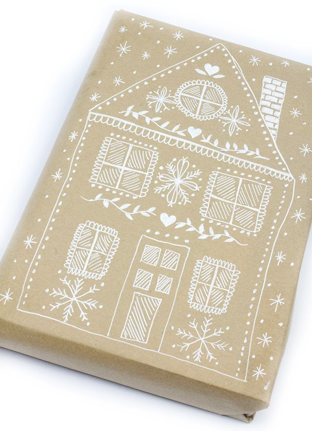 gingerbread house wrapping