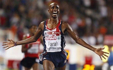 Mo Farah (10,000 metres gold)