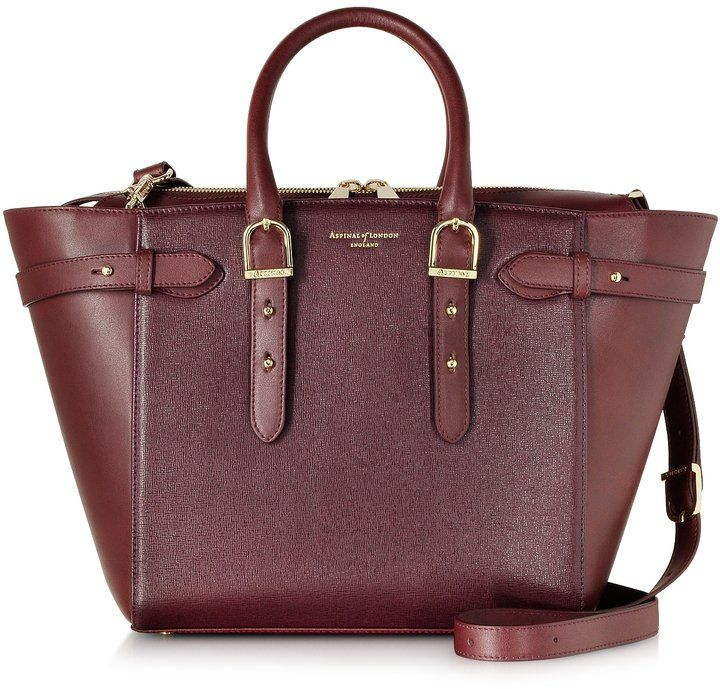 Pin for Later: 100 Editor-Approved Christmas Gifts For Everyone on Your List  Aspinal of London Medium Marylebone Burgundy Leather Tote (£795)