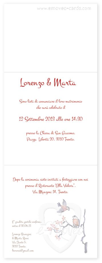 Partecipazione matrimonio acquarello - Chinese Painting - Pittura cinese- Hochzeitseinladung Aquarell - Wedding invitation Watercolor