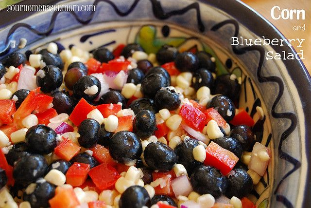 Corn and Blueberry Salad | Recipe | Blueberry Salad, Blueberries and ...