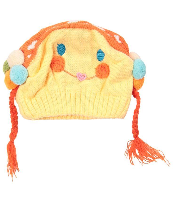 Bizarro Attractive Yellow Woollen Cap For Kids