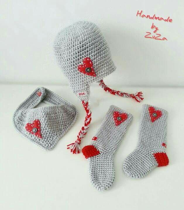 Baby crochet set