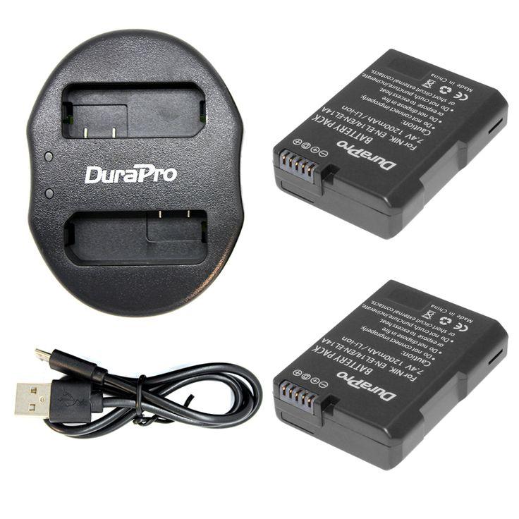 >> Click to Buy << DuraPro 2Pcs EN-EL14 EN-EL14a Battery + USB Dual Charger for Nikon COOLPIX P7000 D3100 D5100 D5200 P7100 P7700 P7800 D3200 #Affiliate