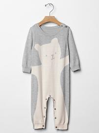 Animal sweater one-piece baby gap