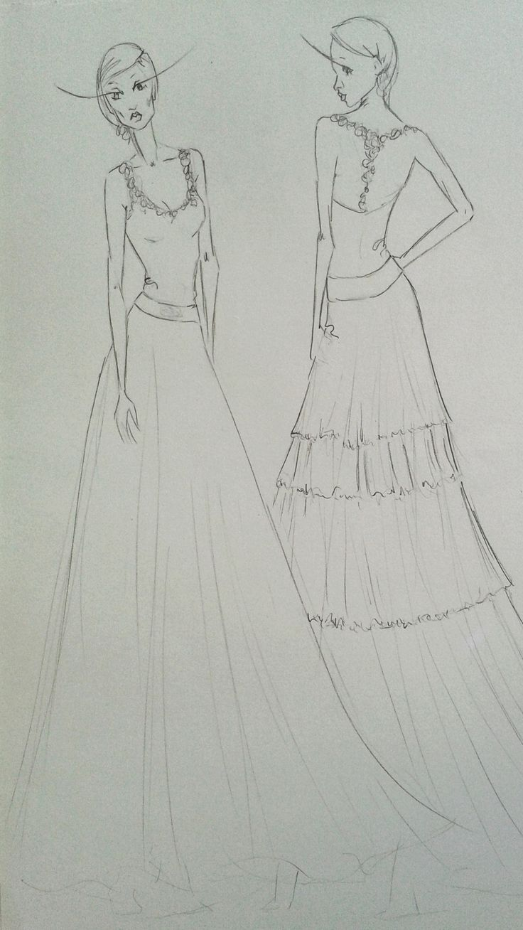 Fashion sketch by Molteno Creations #moltenocreations #fashion #fashiondesign #gown #illustration #drawing #sketching #capetown #southafrica