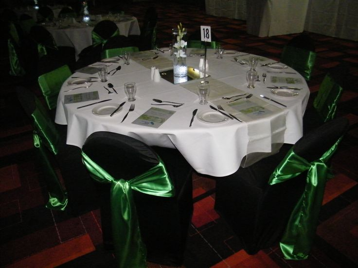 Awards Presentation - Green & White - by Toowoomba White Wedding and Event Hire - Weddings, Corporate Functions, Parties, Gala Events {Toowoomba & Surrounding Areas}