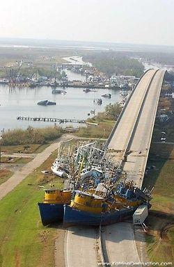 Shipwrecks after Hurricane Katrina