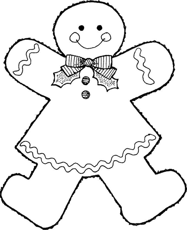 Gingerbread Girl Coloring Page Coloring Pages Pinterest Gingerbread Cookie Coloring Page
