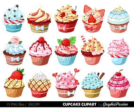 Cupcakes Clipart Digital Cupcake Clipart Cupcake Digital