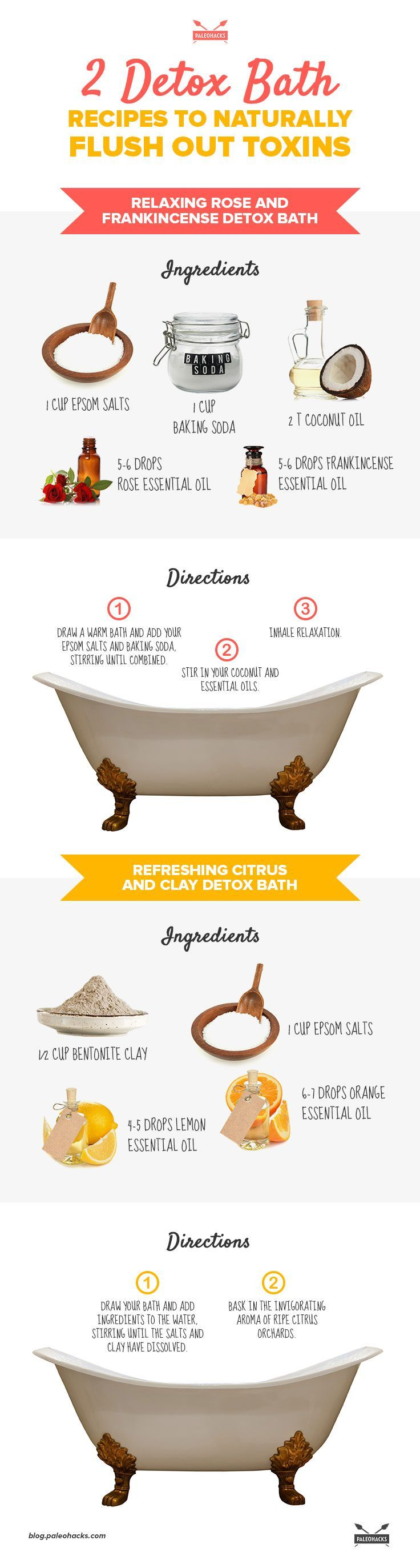 2 Detox Bath Recipes to Naturally Flush Out Toxins