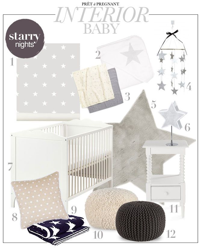 Pret a Pregnant Nursery Inspiration - baby Interior Stars - Starry Nights