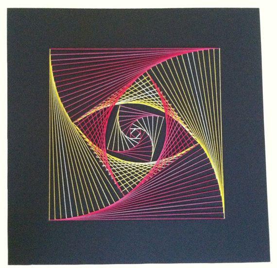 embroidery string art #stringart #art #wall #decor #diy #frame