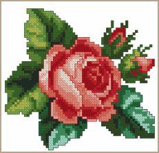 Cross-Stitch Design Teatime Rose