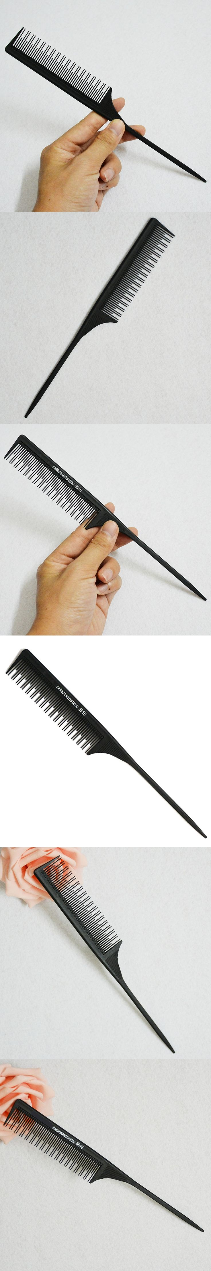 Barber Cutting Comb Hair Rat Tail Comb Brush Carbon Antistatic Comb