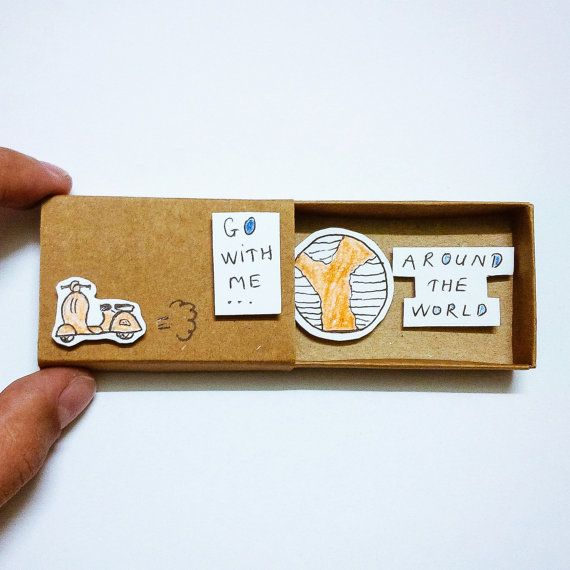 Go with me - around the world Card Matchbox, Grett from JtranJ by DaWanda.com