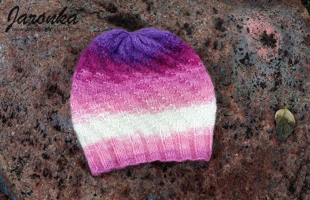 Hand made by Jaronka: Różowo fioletowy komplet