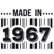 T-shirt made in 1967   T shirt anniversaire - naissance 10 20 30 40 50 60 70 80 90 100 ans