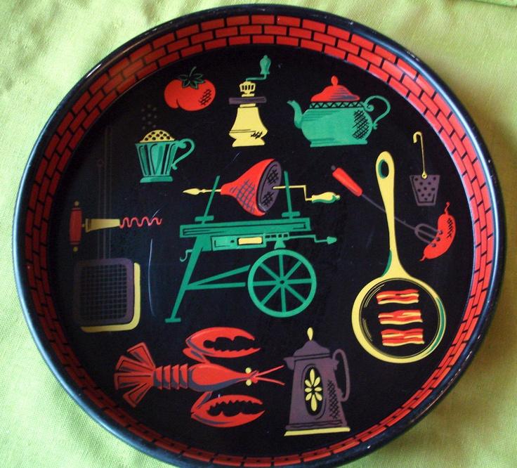 1950s Vintage Barbeque Tray - Retro Illustration - Bacon, via Etsy.