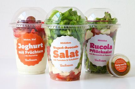 Backraum Salad #Package #Packaging #Design #Food #Drink #Illustration
