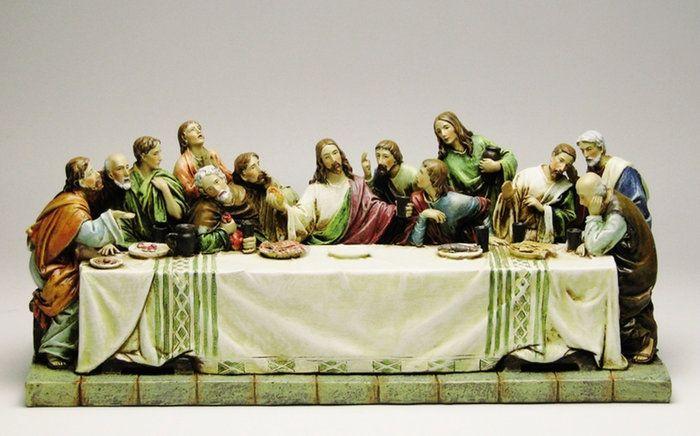 【最後の晩餐】レオナルド・ダ・ヴィンチ/ラストサパー/キリスト教/12使徒/置物