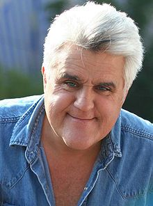 """James Douglas Muir """"Jay"""" Leno (/ˈlɛnoʊ/; born April 28, 1950) is an American comedian, actor, voice actor, writer, producer and television host.  Leno was the host of NBC's The Tonight Show with Jay Leno from 1992 to 2009. Beginning in September 2009, Leno started a primetime talk show, titled The Jay Leno Show, which aired weeknights at 10:00 p.m. (Eastern Time, UTC-5), also on NBC..."""