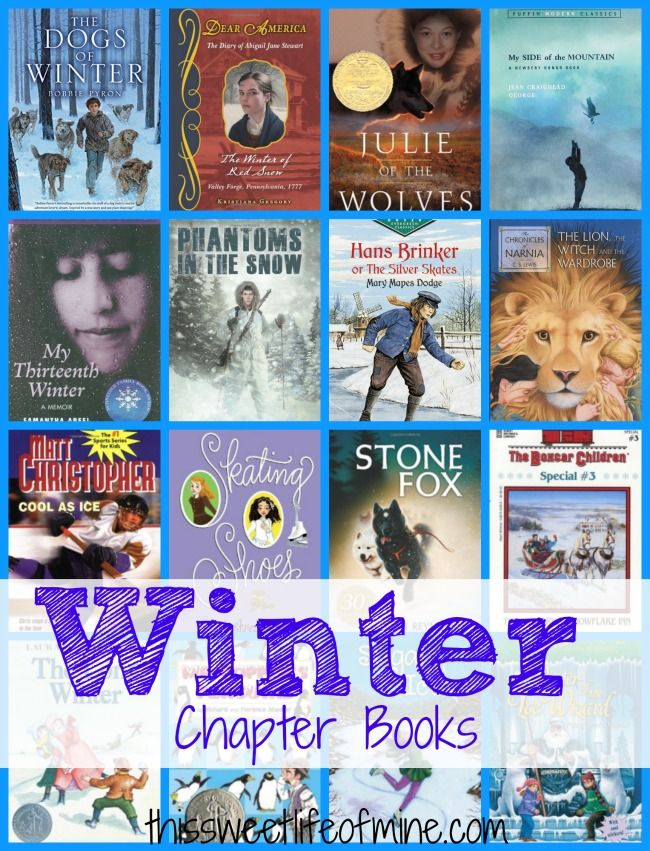 Winter Chapter Books with Free Printable Reading Log | This Sweet Life