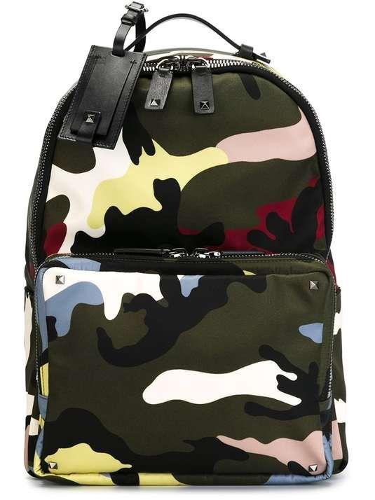 VALENTINO GARAVANI | camouflage backpack #ValentinoGaravani #camo #backpack