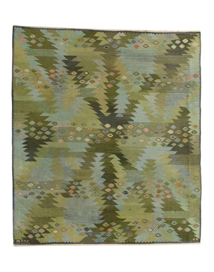 """BARBRO NILSSON, """"Tånga, grön """", 244 x 235 cm"""