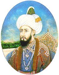 A Miniature of Humayun [Babur's Son], on ivory.