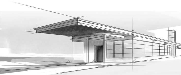 Plain Modern Architecture Sketches Picture In Decor