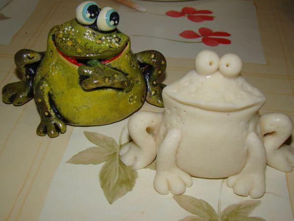 Лепим лягушку и гриб.. Обсуждение на LiveInternet - Российский Сервис Онлайн-Дневников   Синяя птица