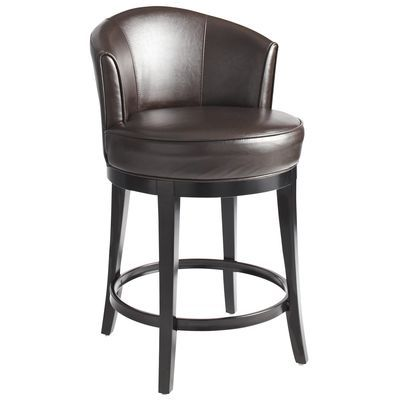 Brown Swivel Counter Stool Leather Brown And Leather Stool