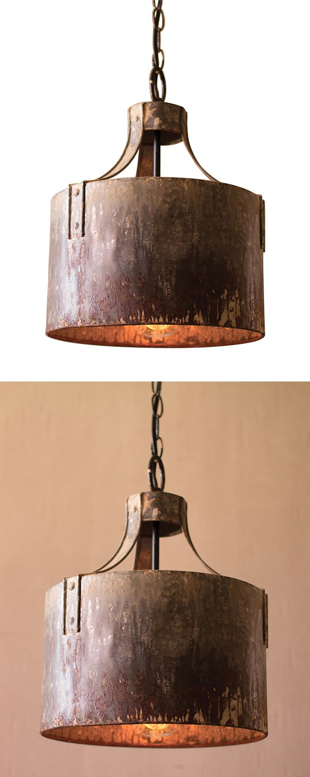 Dive in with and go full-industrial. Embrace the rustic look of this Steinway Pendant Light, a nod to a past era, here to expand your design horizons. Made from metal with a heavily distressed finish, ...  Find the Steinway Pendant Light, as seen in the When Industrial Took Flight Collection at http://dotandbo.com/collections/when-industrial-took-flight?utm_source=pinterest&utm_medium=organic&db_sku=117497