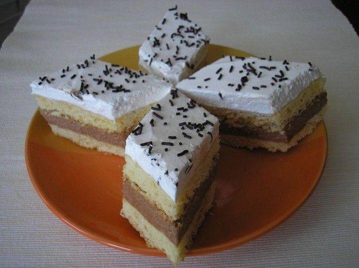 Csodásan mutat és nagyon finom desszert,máskor is el fogom készíteni. Hozzávalók Tészta:  50 dkg liszt, 15 dkg margarin, 15 dkg porcukor, 3...