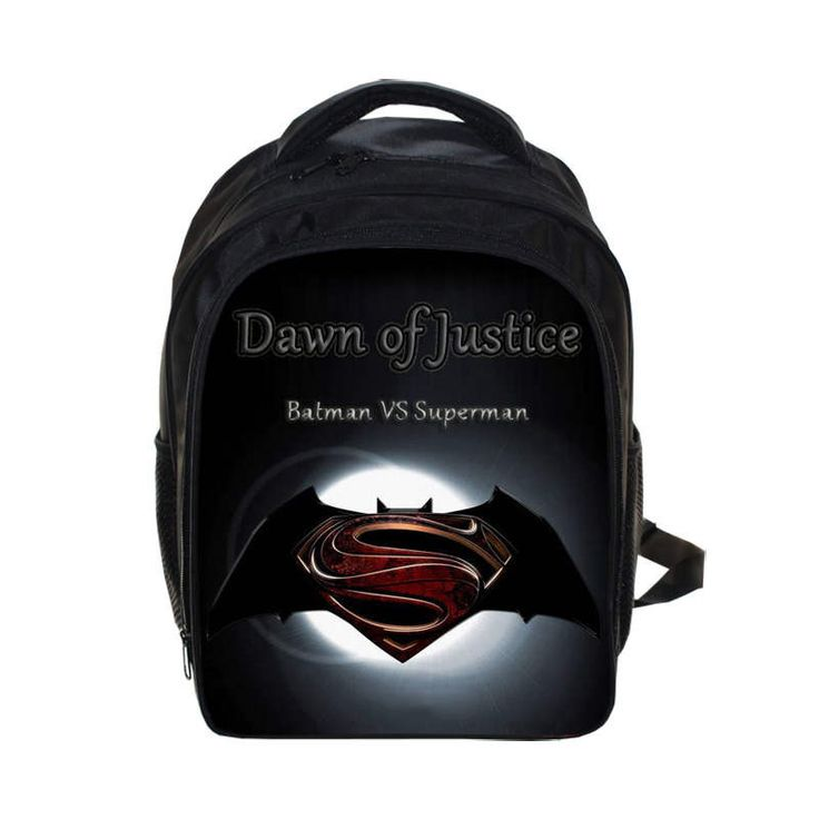 Batman Superman Backpack Kids School Bags For Boys Daily Backpacks Children Hero Spiderman Bookbag Schoolbags