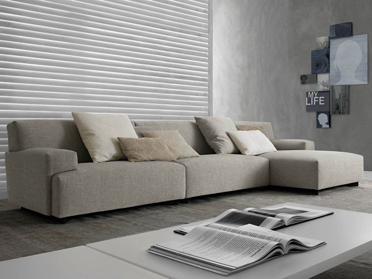 Sectional upholstered sofa SOHO by Poliform design Paolo Piva - designer moebel weiss baxter