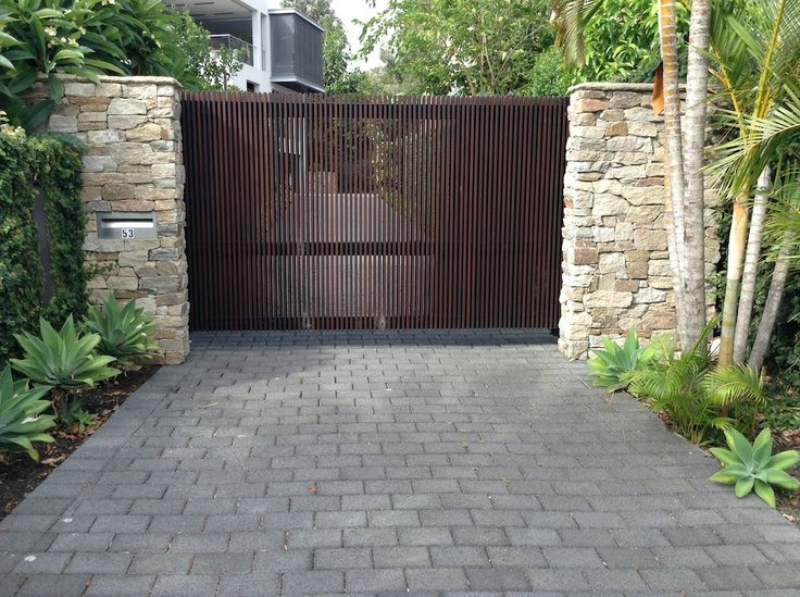 HydroSTON permeable concrete pavers used for a driveway at Dening Street, Drummoyne NSW, Australia.