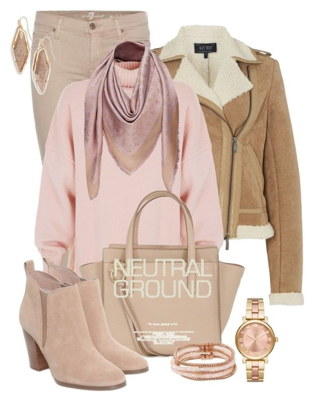 Untitled #404 by elenarudometov on Polyvore featuring polyvore, fashion, style, TIBI, Armani Jeans, 7 For All Mankind, Michael Kors, Salvatore Ferragamo, Betsey Johnson, Kendra Scott, Louis Vuitton and clothing
